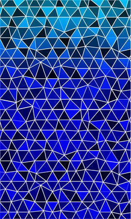 Bright template for banner in the form of a mosaic of polygonal elements. blue tint. Vector illustration to design banners and business brochures.