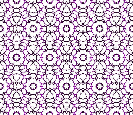 Seamless vector illustration of abstract flowers. purple gradient color. Ethnic arabic indian ornament.