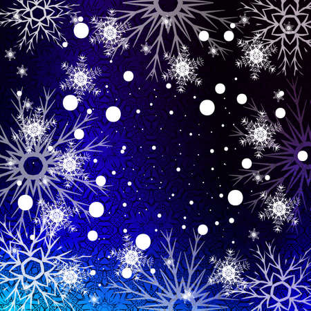 Christmas backdrop with snowflakes pattern Ilustracja