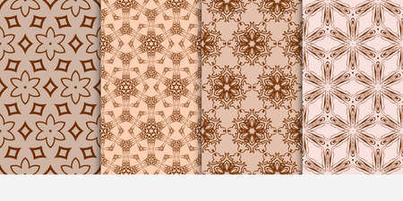 Set of 4 floral pattern