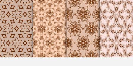 Set of 4 floral pattern