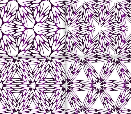 Purple gradient color floral  pattern For interior design