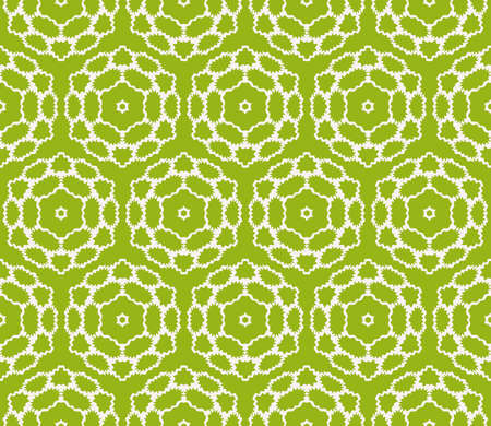 Green floral geometric patterns Illustration