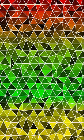 Dark green pattern for a banner in a mosaic of triangles origami. Vector illustration.