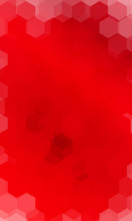 Hexagonal pattern. Red color gradient background for design, banner, presentation. Illustration