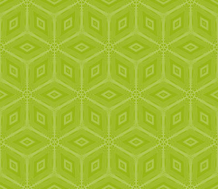 virtual 3d cube. seamless vector pattern. interior decoration, wallpaper, presentation, pattern fills, fashion design. olive color