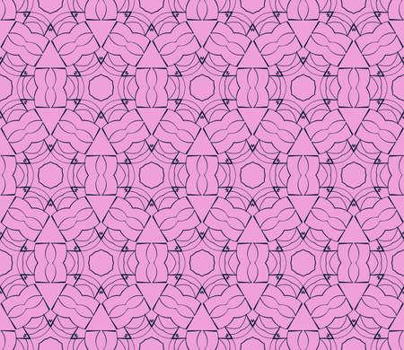 Patrón transparente de Vector abstracto con estilo abstracto floral y licencia. Repitiendo la figura y la línea de muestra. Para el diseño de interiores moderno, papel tapiz, industria textil.