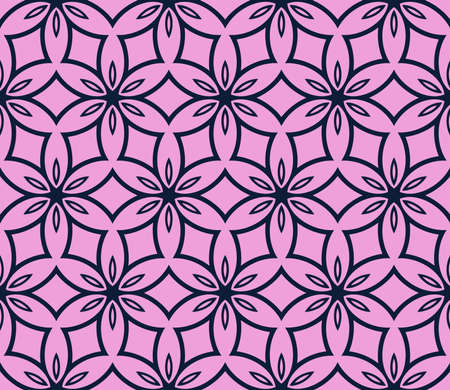 Abstract Vector seamless pattern with digital abstract floral and leave style. purple color. For modern interiors design, holiday wallpaper, textile industry