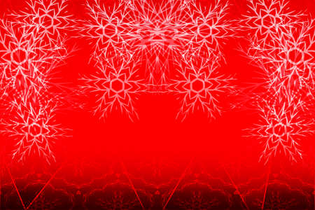Christmas bright background with snowflakes. red gradient. vector illustration. for greeting cards, banners, printing