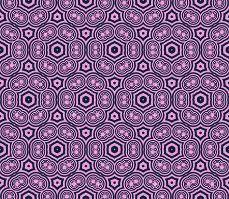 Seamless vector pattern in purple color. Simple circle element geometry ornament.