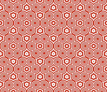 seamless sophisticated geometric pattern based on repetitive simple forms. vector illustration. for interior design, backgrounds, card, textile industry. red coloring