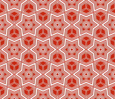 Complex geometric ornament. Sophisticated geometric pattern based on repetitive simple forms. Vector illustration for interior design, backgrounds, card, textile industry. Ilustração