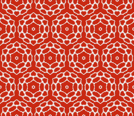 complex geometric ornament. sophisticated geometric pattern based on repetitive simple forms. vector illustration for interior design, backgrounds, card, textile industry. red coloring