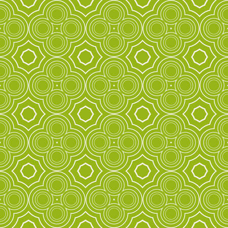 Sophisticated geometric seamless pattern based on repetitive simple line and shape forms vector illustration. For interior design, backgrounds, card, textile industry green color.