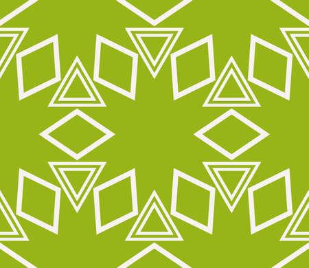 Virtual 3d cube seamless vector pattern. Interior decoration, wallpaper, presentation, pattern fills, fashion design olive color. Illustration