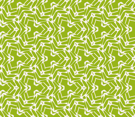 Sophisticated geometric seamless pattern based on repetitive simple line and shape forms vector illustration for interior design, backgrounds, card, textile industry green color. Illustration