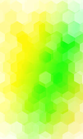 fantasy hexagons on a multi color background.