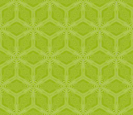 Virtual 3d cube seamless vector pattern. Interior decoration, wallpaper, presentation, pattern fills, fashion design, olive color.