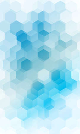 Overlapping hexagonal patterns. Light Blue gradient banner. vector illustration.