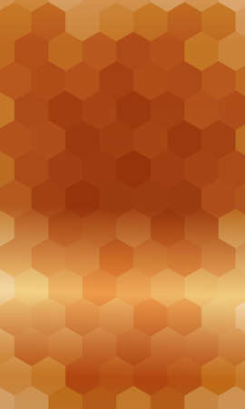 hexagons on a brown color background. vector. geometric banner with gradient. ideas for your business presentations, printing, design.