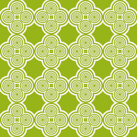 Sophisticated geometric seamless pattern on repetitive simple line and shape forms.