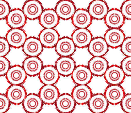 ovals and circles. beautiful geometric pattern. vector illustration. red gradient. Ilustrace