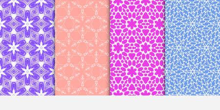 Set of original floral patterns. geometrical ornament. vector illustration for design invitation, backgrounds, wallpapers