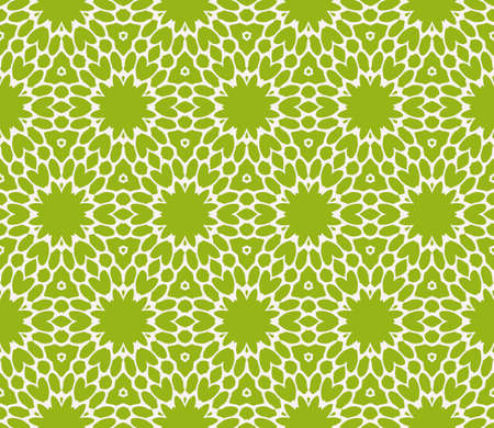 Sophisticated seamless geometric pattern based on repetitive simple line and shape forms vector illustration. For interior design, backgrounds, card, textile industry, green color.