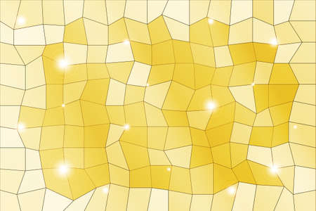 Polygon background of yellow color Illustration