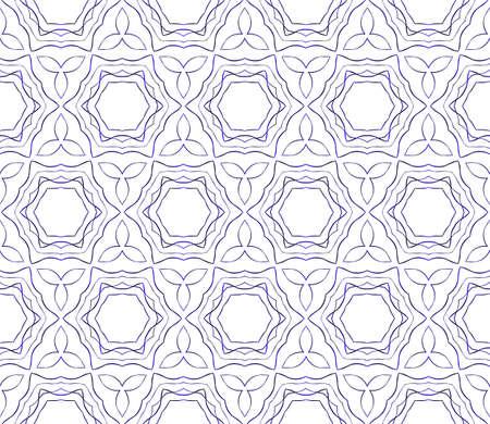 Floral blue gradient seamless pattern.