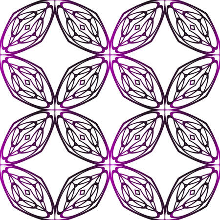 geometrical pattern of various shapes. vector illustration. purple gradient. Vectores