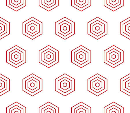 Pattern of hexagons design