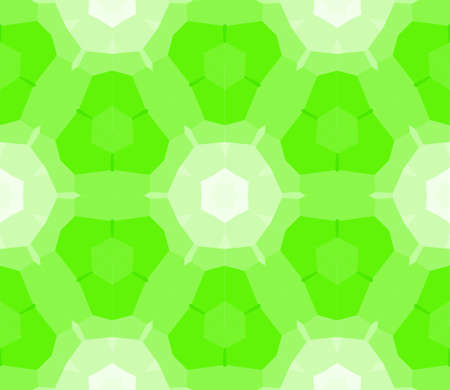 Seamless mosaic stained-glass window in green color. Vector illustration.