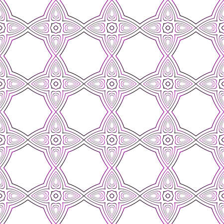Seamless vector pattern of ovals and circles in purple gradient. Vector illustration