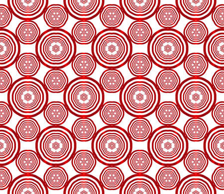 seamless vector pattern of ovals and circles. red gradient. vector illustration