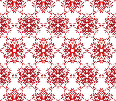 Seamless creative pattern of stylized flowers. vector illustration. red gradient. for design