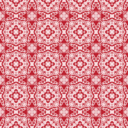 A gentle seamless pattern of abstract flowers for greeting cards vector illustration. A pink color for design of  Wallpaper