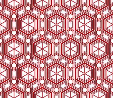 Hexagons beautiful geometric pattern vector illustration red gradient.