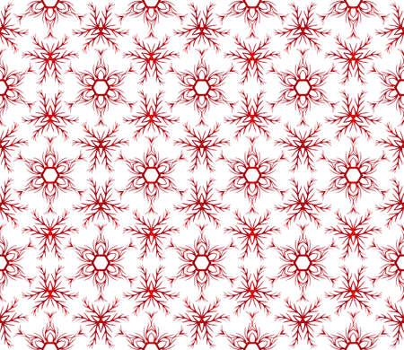 beautiful Christmas pattern with snowflakes. vector illustration. red gradient. Ilustração Vetorial