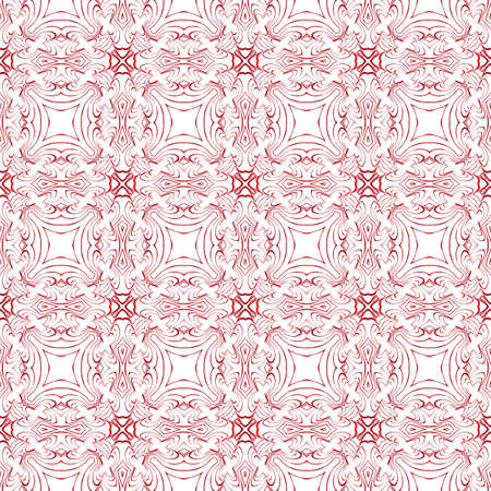 floral pattern of geometric elements. seamless pattern. red gradient color. vector illustration. design for printing, presentation, textile industry. Illustration