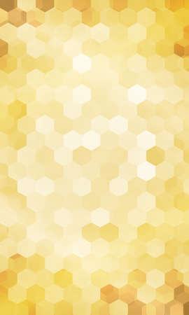 Holiday background. hexagon geometry pattern. gold color. vector illustration. for design flyer, banner, wallpaper Stock Illustratie