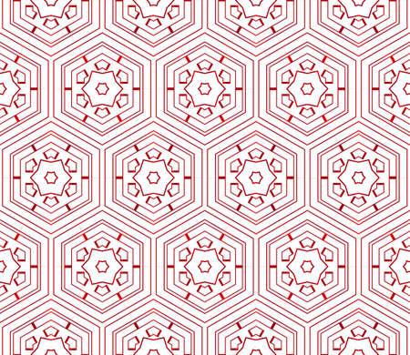 Hexagons, beautiful geometric pattern vector illustration, red gradient.