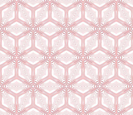 Seamless pattern of cubes with ornament.