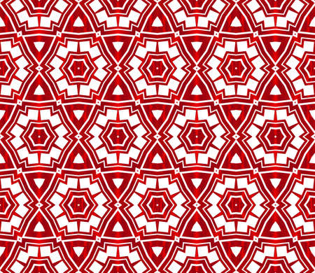 seamless vector pattern of hexagons. red gradient. vector illustration