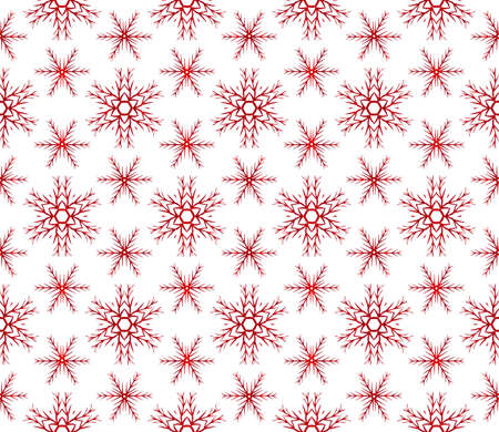 Christmas snowflakes. beautiful Christmas pattern. vector illustration. red gradient. Ilustrace