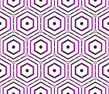 A seamless vector pattern of hexagons on purple gradient vector illustration 矢量图像