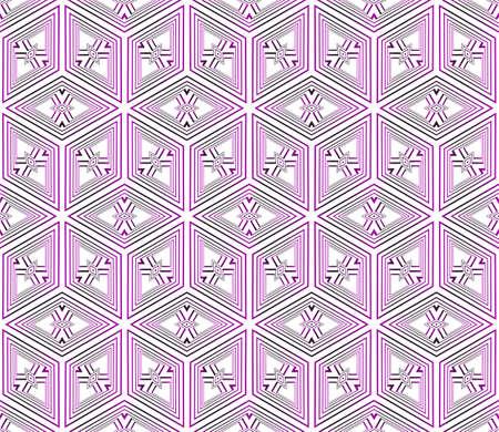 seamless vector pattern of geometric cube. purple gradient. vector illustration