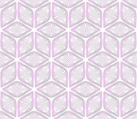 seamless vector pattern of geometric cube. purple gradient. vector illustration