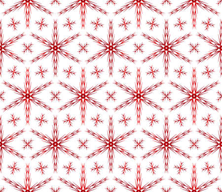 Christmas snowflakes on beautiful Christmas pattern vector illustration on red gradient.