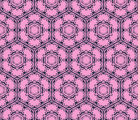 Seamless geometric pattern. Vector illustration. purple for design, printing. Stock Illustratie